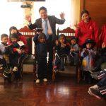 Colegio Futura School visitó la municipalidad y alcalde José Supo les brindó agendas escolares para su estudio