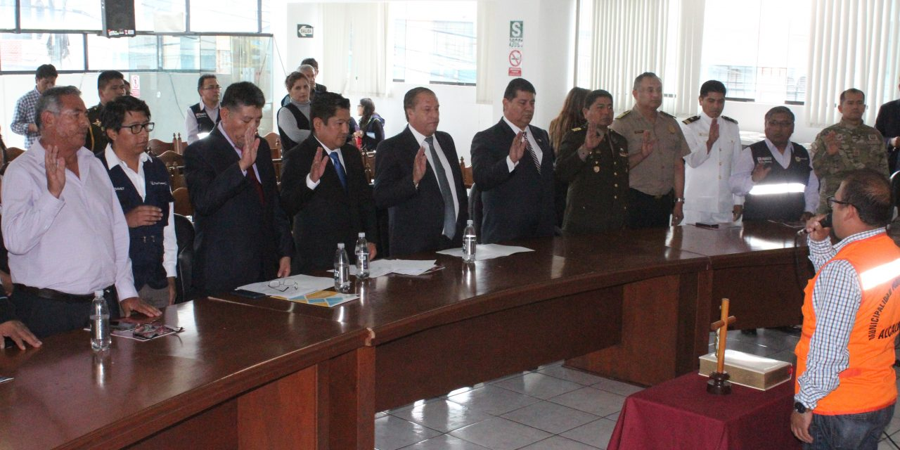 Dr.  José Supo realizó juramento de la Plataforma de Defensa Civil