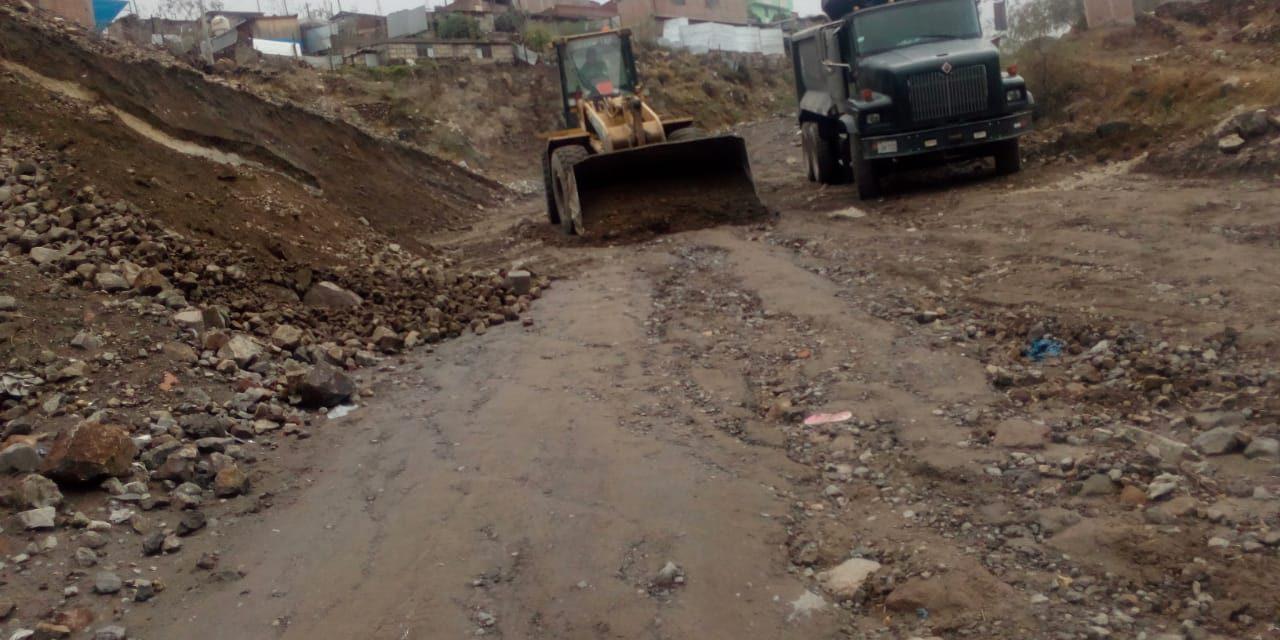 La Gerencia de Servicios Públicos descolmató carretera del Cebollar