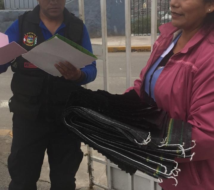 """Entrega de sacos terreros al Albergue """"El Buen Jesús"""""""