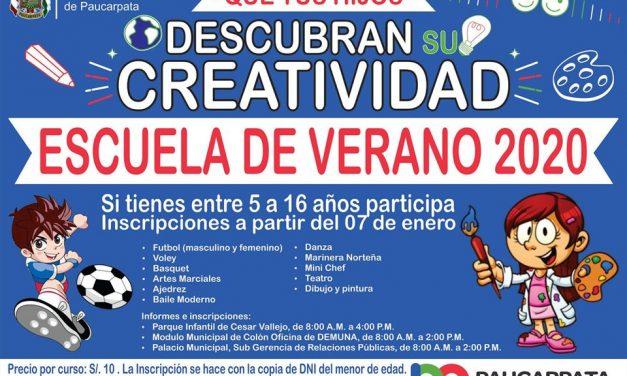 En la Escuela de Verano de Paucarpata tus hijos descubrirán su creatividad