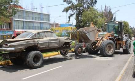 Retiro de vehículo en abandono por parte de Inspectoría Municipal