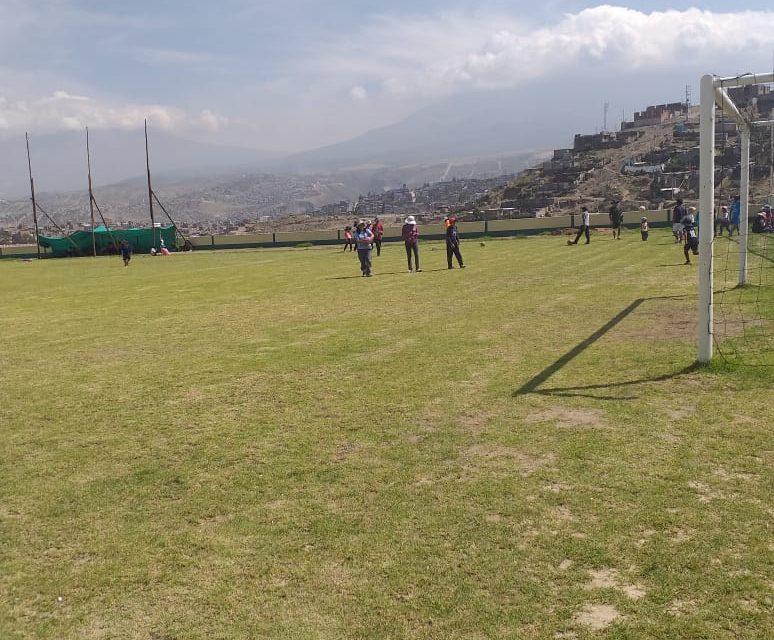 Mantenimiento del estadio Rosaspata