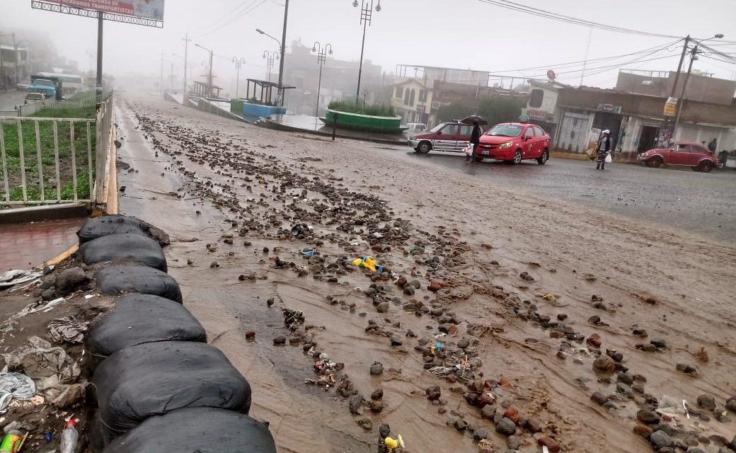 Defensa Civil atendió diversas zonas afectadas por lluvia durante la ultima noche y madrugada en nuestro distrito
