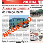 Policía de Campo Marte da negativo al COVID-19