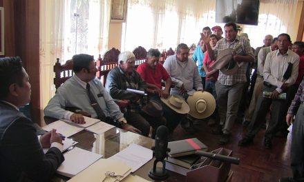 La Municipalidad brindará ayuda a Comité de Regantes de Alangui