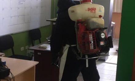Fumigación de la sede de Seguridad Ciudadana
