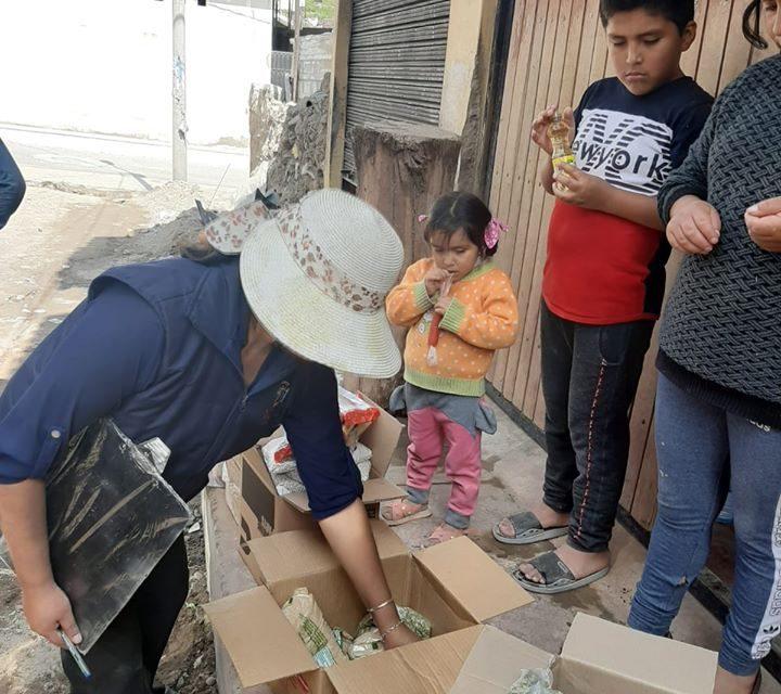 Municipalidad entrega víveres a La Quebrada, Cristo Rey y Miguel Grau
