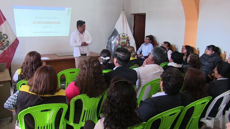Dr. José Supo brindó charla de prevención frente a la enfermedad del Coronavirus a personal de la Municipalidad