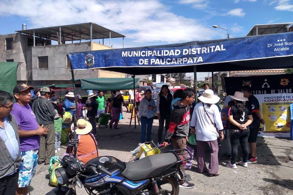 """Campaña de Prevención contra Coronavirus en Feria """"De la Chacra a la Olla"""""""
