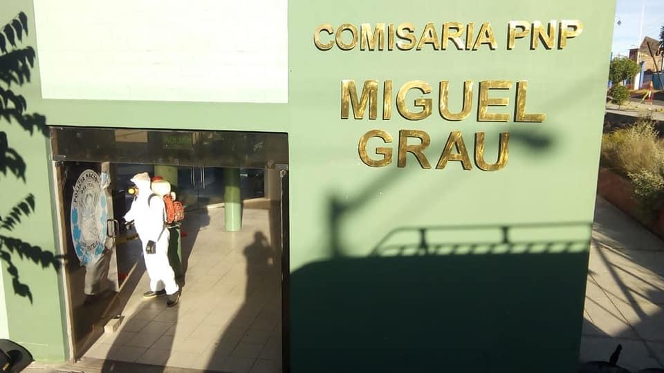 Desinfección de Comisaria Miguel Grau