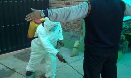 Proceso de Desinfección a todos los obreros