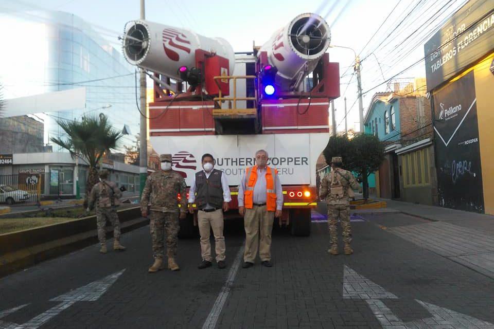 ¡Nebulizadoras llegaron a Paucarpata para desinfectar todo el distrito!
