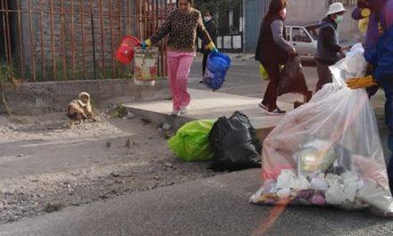 Recojo de residuos en diversas zonas del distrito