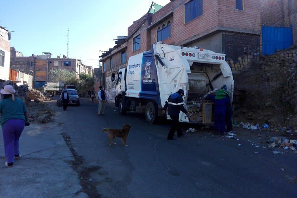 Trabajo de recojo de residuos en coordinación con comunas vecinas