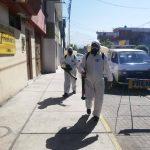 Desinfección de calles en APIMA