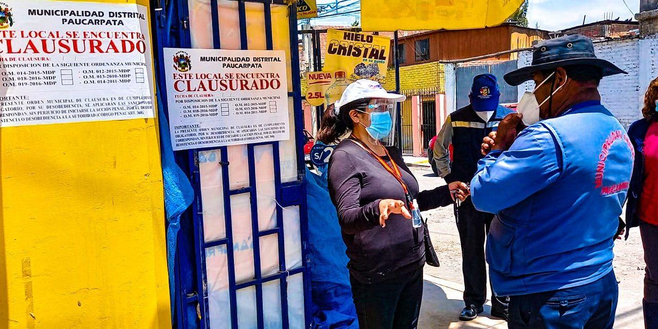 MUNICIPALIDAD DE PAUCARPATA CLAUSURÓ NEGOCIOS QUE NO RESPETABAN PROTOCOLOS DE BIOSEGURIDAD