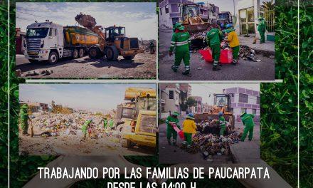 EN ACCIÓN PLAN 'BASURA CERO' OPERATIVOS CONSTANTES DE RECOJO DE BASURA EN TODO EL DISTRITO DE PAUCARPATA