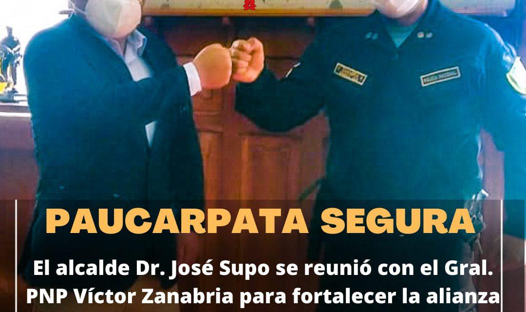 COMPROMETIDOS CON UN DISTRITO MÁS SEGURO EL ALCALDE DR. JOSÉ SUPO SE REUNIÓ CON EL GRAL. VÍCTOR ZANABRIA PARA REAFIRMAR LA ALIANZA ESTRATÉGICA CON LA IX MACROREGIÓN POLICIAL
