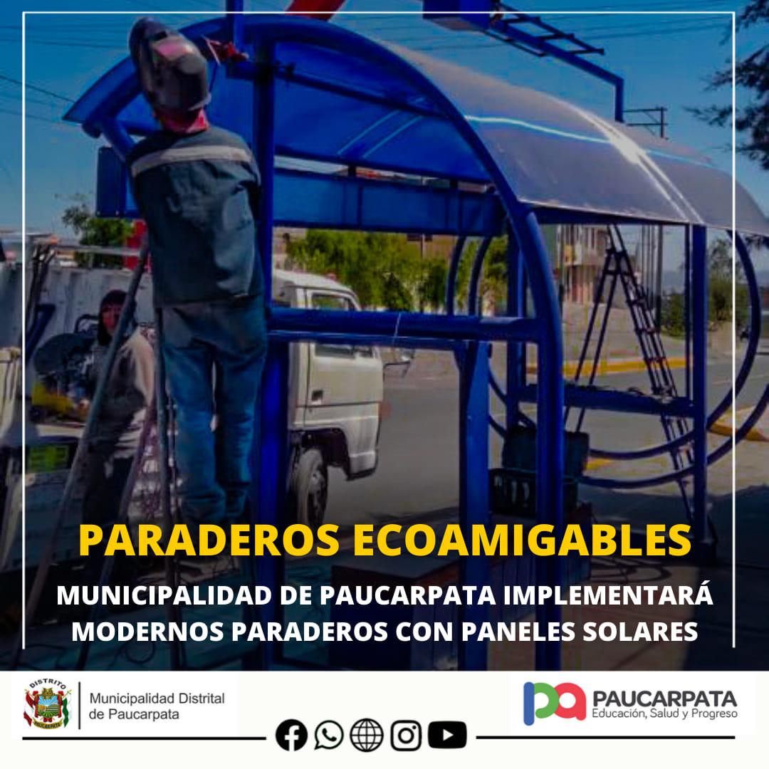 PAUCARPATA MODERNIZARÁ PARADEROS CON PANELES SOLARES