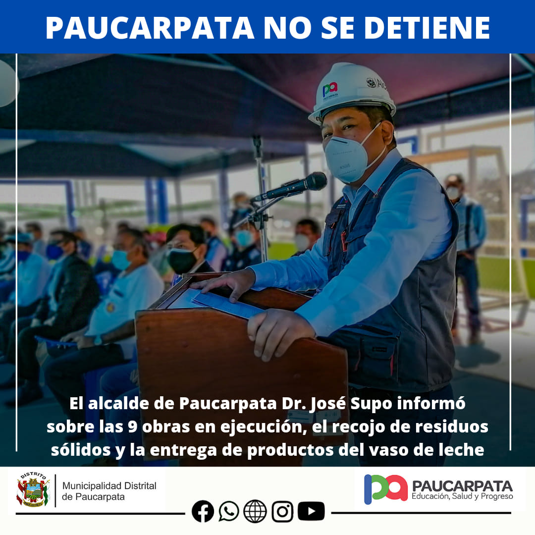 ALCALDE DE PAUCARPATA CONVOCA SESIÓN DE CONSEJO PARA VASO DE LECHE