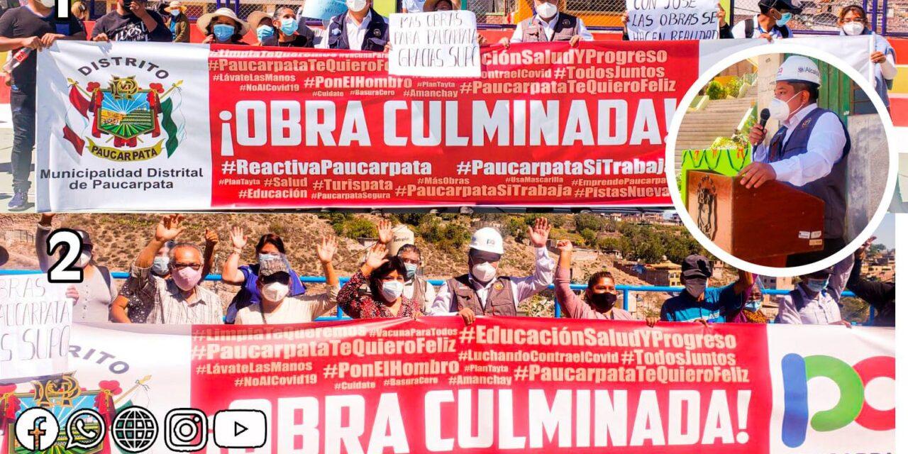 PAUCARPATA INAUGURA DOS IMPORTANTES OBRAS PARA EL DESARROLLO DEL DISTRITO