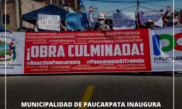 MUNICIPALIDAD DE PAUCARPATA INAUGURA RENOVADA AVENIDA EL SOL EN MIGUEL GRAU