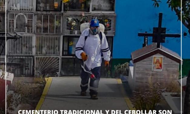 CEMENTERIO TRADICIONAL Y DEL CEBOLLAR SON FUMIGADOS PERIÓDICAMENTE EN PAUCARPATA