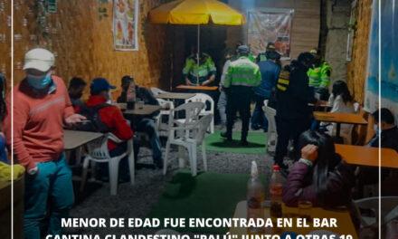 """MENOR DE EDAD FUE ENCONTRADA EN EL BAR CANTINA CLANDESTINO """"PALÚ"""" JUNTO A OTRAS 19 PERSONAS"""