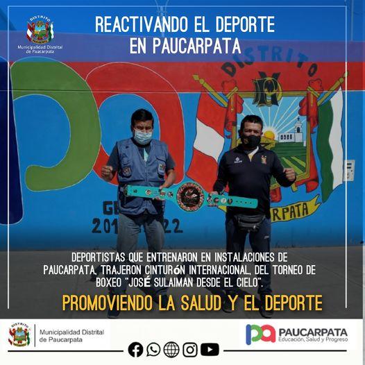 REACTIVANDO EL DEPORTE EN PAUCARPATA.