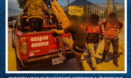 10 JOVENES  FUERON SANCIONADOS POR NO RESPETAR LOS PROTOCOLOS DE BIOSEGURIDAD