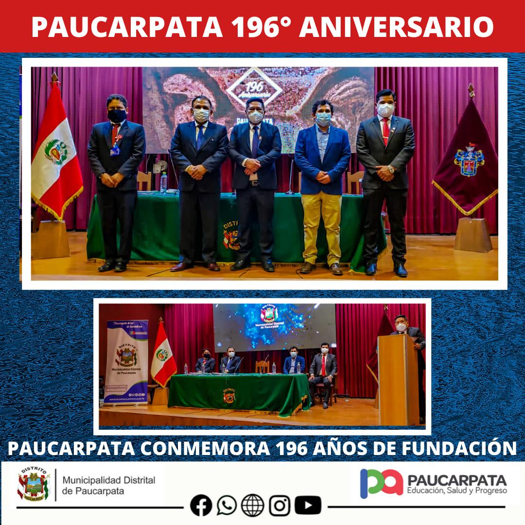 🟩🟦🟥 MUNICIPALIDAD DE PAUCARPATA CONMEMORARÁ EL 07 DE AGOSTO 196 AÑOS DE FUNDACIÓN POLÍTICA